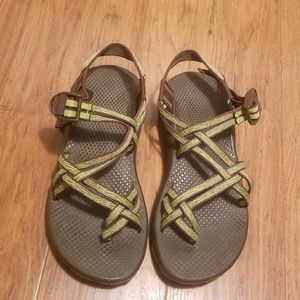 Chaco Hiking Sandals Womens Size 7 Green